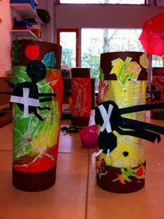 Leuk voor sint Maarten: een spinnenweb lampion