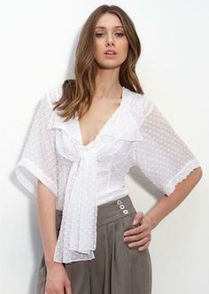 Blouses & Shirts Creative New Women Spring Summer V-neck Embroidery Lace Star Basic Bow Shirt Casual Slim High Waist Cardigan Mesh Gauze Voile Blouse Tops