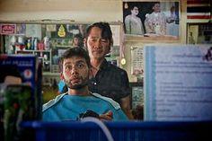 Finally having a haircut, overseen by the King and Queen of Thailand @Gail Regan Truax://www.mariosgarrella.com/#!myanmar-malaysia-by-train/c1wry Thailand, Hair Cuts, King, Train, Queen, Fictional Characters, Haircuts, Zug, Hair Cut