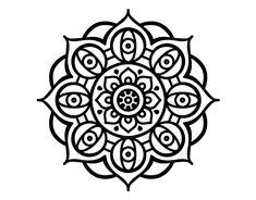 Dibujo de Mandala ojos abiertos para Colorear