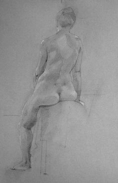 Seated Nude - by Sam Dalby.