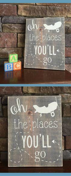 58 Best Ideas For Baby Boy Nursery Airplanes Signs - Modern Farmhouse Nursery Decor, Rustic Farmhouse Decor, Airplane Nursery, Baby Diy Projects, Baby Shower Signs, Playroom Decor, Nursery Wall Art, Nursery Ideas, Baby Boy Nurseries