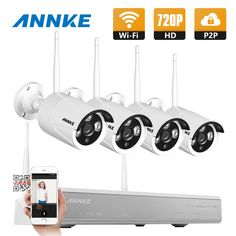 161.84$  Buy now - http://ali1yo.worldwells.pw/go.php?t=32713085189 - ANNKE 4CH CCTV System 720P HDMI NVR 4PCS 1.0 MP IR Outdoor P2P Wireless IP CCTV Camera Security System Surveillance Kit 161.84$