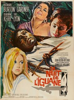 THE NIGHT OF THE IGUANA - 1964 - French release poster