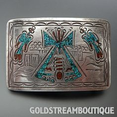 Metal: Silver Metal Purity: .925 Hallmark: JDC CONJOINT Artisan: Betty Jean Chee Tribe Affiliation: Navajo Length ( inches / mm ): 2.98 / 75.7 Width ( inches / mm ): 2.02 / 51.4 Weight ( gram ): 49.5