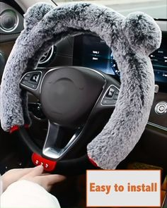 Cute steering wheel cover to protect your hands from cold in winter Pink Car Seat Covers, Car Steering Wheel Cover, Cute Car Accessories, Car Seat Cushion, Car Essentials, Cute Cars, Car Set, First Car, Future Car