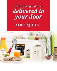 Save time with convenient home delivery from Oberweis. Farm fresh milk, curated groceries, and so much more delivered right to your porch. Learn more at oberweis.com #OberweisHomeDelivery #OberweisDairy #Oberweis #homedelivery #grocerydelivery #morethanmilk #oberweisdelivers #Illinois #Indiana #Michigan #Missouri #NorthCarolina #Virginia #Wisconsin