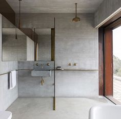 Brass & concrete