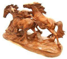 wood animal carvings, exotic artwork,