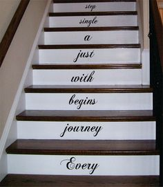 Every Journey Stairs Quote Decal Sticker Wall Vinyl by BoopDecals, $17.00