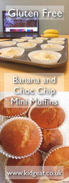 Gluten Free Banana and Chocolate Chip Mini Muffins