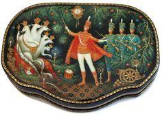 Miniature sur boite russe laquée, Casse-Noisette
