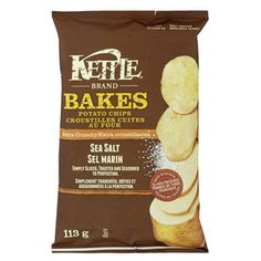 32 Healthy Snacks | Crunchy: Kettle Brand Bakes Sea Salt Potato Chips | AllYou.com