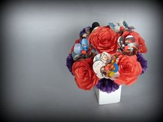 it's a superhero bouquet, How awesome would attending this wedding be?