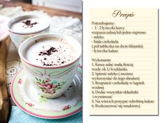 kawa przepis Espresso, Ice, Chocolate, Coffee, Tableware, Recipes, Gastronomia, Espresso Coffee, Kaffee