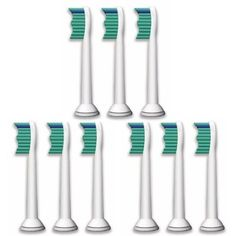 Generic compatible toothbrush heads replacement for Philips Sonicare HX6013 Pro Results, model number: HX6013. Not Philips original. #LSQtronics product. 9 X Rep...