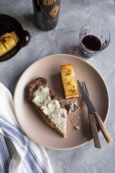 Roquefort Sauce is perfect served over simply grilled steaks.  A romantic meal option for Valentine's Day!