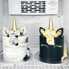 ▷ 1001 + magic unicorn cake ideas for your child's birthday - Trend Pretty Cakes 2019 Pretty Cakes, Cute Cakes, Beautiful Cakes, Amazing Cakes, Yummy Cakes, Black Unicorn Cake, Unicorn Cakes, White Unicorn, Unicorn Gifts