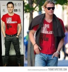 Can I have a shirt that says both? Or could I just have both? And you could throw Liam in there... you know, if you wanted.
