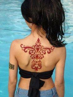 Beautiful henna  on back