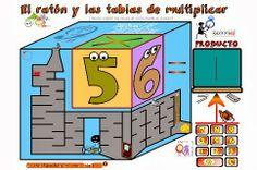 El blog de Pilar PT: El ratón y las tablas de multiplicar