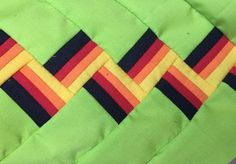 Seminole Design Patchwork FIRE COLORS WITH LIME GREEN