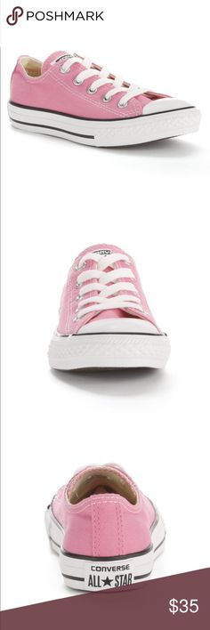 Kid's Converse Chuck Taylor All Star Sneakers sz2 New with box!  Kid's Converse Pink Chuck Taylor All Star Sneakers Size 2. Really cute pink converse))! Your princess will love them😍😍😍))!  Product Details  SHOE FEATURES Reinforced toe provides extra protection. Flexible rubber outsole ensures traction.  SHOE CONSTRUCTION Canvas upper & lining Rubber outsole  SHOE DETAILS Lace-up closure Padded footbed Converse Shoes Sneakers
