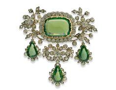 Georgian. Peridot and Diamond Parure, attrib.Koechert, c1815. (made for Archduchess Henriette of Austria, née Princess of Nassau-Weilburg for her wedding in 1815).