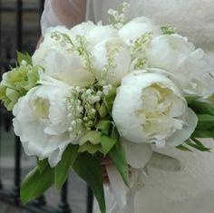 Bouquet peonie bianco