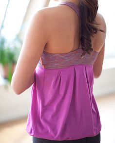This Lululemon 'Power Dance Tank' is perfect for all the ladies that want to hit the studio or the mat and feel confident and comfortable doing so!  This heathered ultra violet colour is perfect for Spring!