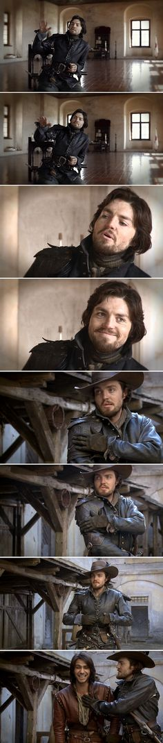 Tom Burke from the series 1 DVD extras (plus Luke at the end)