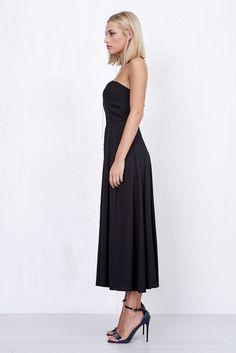 Angel Maxi Skort Dress Black   Morrisday   The Label