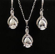 Bridal Jewelry Set  Bridesmaids Set Crystal by BeFrostedBridal, $90.00