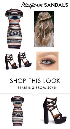"""""""Untitled #32"""" by ezikegirl0103 ❤ liked on Polyvore featuring Hervé Léger and Aquazzura"""