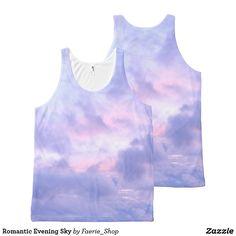 19d807294dd1f2 Romantic Evening Sky All-Over-Print Tank Top