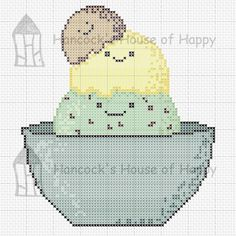 hancock's house of happy: We All Scream for Ice cream! Cute Kawaii Icecream Cross Stitch Chart