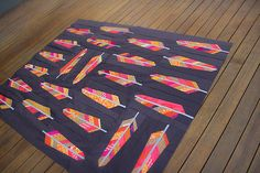 """PATTERN - Amy Badskirt's delicious version of Anna Maria Horner's """"Feather Bed"""" Quilt Quilt Baby, Quilt Bedding, Quilting Projects, Quilting Designs, Sewing Projects, Arrow Quilt, Southwestern Quilts, Quilt Modernen, String Quilts"""