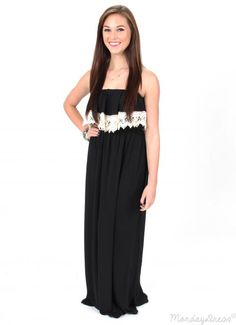 Cute, casual, and perfect for Spring & Summer! Shop this Somewhere With You Black Maxi Dress at MondayDress.com!