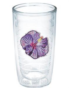 Purple Hibiscus  - 16oz tumbler