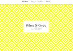 pretty, preppy website designs from Riley & Grey