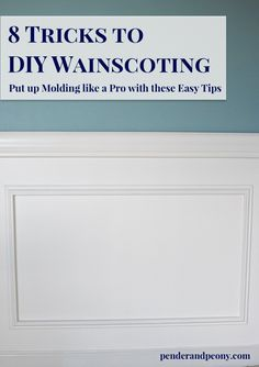 We installed chair rail and wainscoting in our dining room. Learn to DIY…