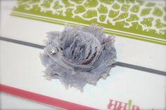 Shabby flower headband baby headband newborn by HadynsHair on Etsy, $4.99