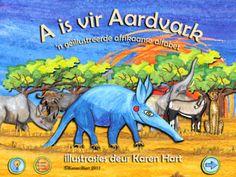A is vir Aardvark Afrikaans Language, Ipads, Science Activities, Toddler Crafts, Classroom Ideas, Alphabet, App, Education, Iphone