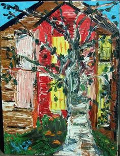 Saatchi Online Artist Irish Rainbeau; Painting, OLD FARM HOUSE #art