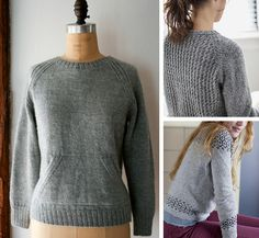 Bottom-up sweater patterns for first-timers