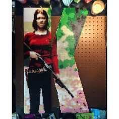 K - Maggie Greene - The Walking Dead perler bead project by  bgkayz