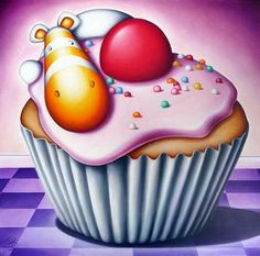 """""""I like cake"""" by Peter Smith #impossimals #petersmith #cake"""