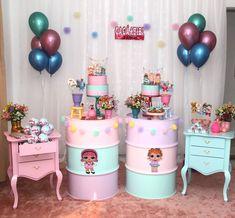 Festa LOL Surprise para Arte e papelaria Cakepops, Bolos e Bar de brigadeiro Biscoitos e… 6th Birthday Parties, Birthday Party Decorations, Candy Bar Party, Lol Dolls, Fun Crafts For Kids, Birthdays, Party Ideas, Instagram, Doll Party