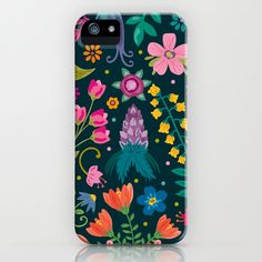 Floral Heart iPhone Case by Anna Deegan Floral Iphone Case, Iphone 5 Cases, Iphone 5s, Galaxy S4 Case, Apple Logo, Apple Products, Surface Pattern, Tech Accessories, Gadgets