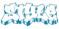 graffitit letters SUNNY